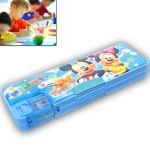 Kids Multi Purpose Pencil Pen Storage Box Sharpener Pouch With Light - 38
