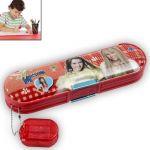 Kids Multi Purpose Pencil Pen Case Storage Box Holder Sharpener Pouch - 75