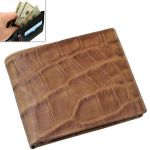Mens Leather Wallet Credit Business Card Holder Case Money Bag Purse -111