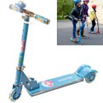 3 Wheeler Push Foldable Scooter Kick Board Kids Toy With Music & Light -n34