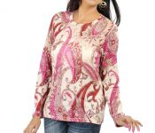 Casa Pashma Party Full Sleeve Floral Print Women