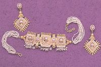 Surat Diamond Pearl Shining Beauty Necklace Sp93