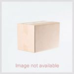 Kriaa Zinc Alloy Gold Plated Orange Austrian Stone Necklace Set With Maang Tikka - 2100202