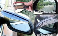 Set Of 2 Rear View Mirror Rainproof Blades For Car Auto Ensures Clarity Saf