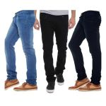 Indmart Set Of 3 Basic Jeans