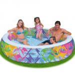 Intex Swim Center Pinwheel Inflatable Swimming Pool 90""