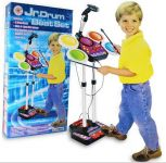 Kids Electronic Jr Drum Beat Set With Microphone And Lights