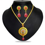 Rakhi Gifts - Jpearls Trendy Necklaces Set - Jpjun-17-0054