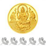Sri Jagdamba Pearls 24kt 1 Gram Laxmi Gold Coin Code Sjpgc01-24nf