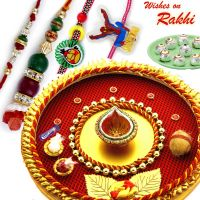 Aarti Raksha Bandhan Shagun Thali With Sweets