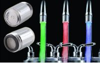 Temperature Sensor 3 Color No Battery Water Tap Faucet RGB Glow Shower LED