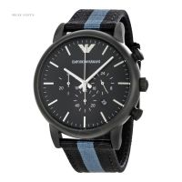 Imported Emporio Armani Luigi Chronograph Black Dial Men's Watch