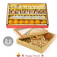 Dry Fruits with Assorted Sweets for Diwali