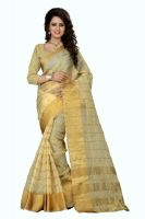 See More Self Designer Orgenza Chikku Colour Saree With Golden Border  Raj Orgenza Chikku