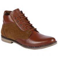 Bachini Half Ankle Boot For Men-(Code-1529-Tan)