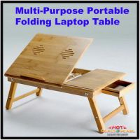 Wooden Portable Folding Laptop Table / Study Table
