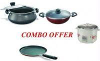 Prestige Ricecooker +nonstick Handi + Kadai + Tava