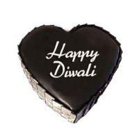 Heart Shape Diwali Cake
