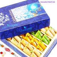 Rakhi Gifts Sweets-ghasitarams Assorted Rolls Box
