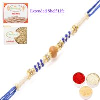 Rakhi for Brother Rakhis online USA - Blue Pearl Rakhi