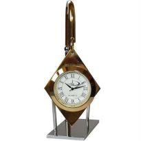 Home And Beyond Gold And Chrome Hanging Desk Clock