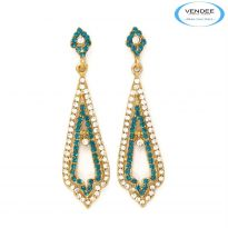 Vendee Fashion Sky Blue Alloy Earring 3377