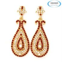 Vendee Fashion Red Alloy Earring 3541A