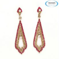 Vendee Fashion Pink Alloy Earring 3570L