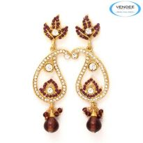 Vendee Fashion Purple Alloy Earring 3620G