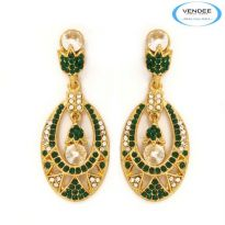Vendee Fashion Green Alloy Earring 3671A