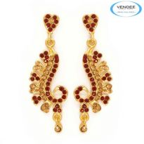 Vendee Fashion Red & Yellow Alloy Earring 4248A