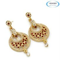 Vendee Fashion Red Alloy Earring 4634