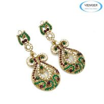 Vendee Fashion Green & Purple Alloy Earring 4833A