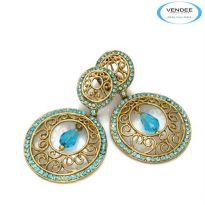 Vendee Fashion Sky Blue Alloy Earring 4857