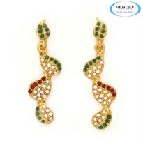 Vendee Fashion Red & Green Alloy Earring 6375