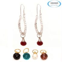 Vendee Fashion Multicolour Brass Earring 6817A