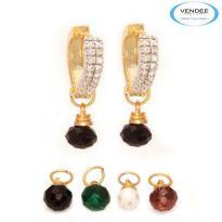 Vendee Fashion Multicolour Brass Earring 6818