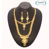 Vendee Fashion 2 Steps Necklace Set 7077