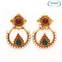 Vendee Fashion Beautiful Copper Earrings 7124
