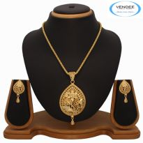 Vendee Fashion 1 gram Gold Plated Pendant Set 7276
