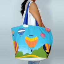 Pick Pocket Canvas Parachute In Sky Hand Bag Hnbpar4