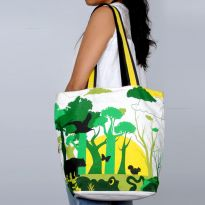 Pick Pocket Canvas  Green Jungle  Hand Bag Hnbjun5