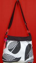 Pick Pocket Canvas Black And White Sling Bag Slblkwts23