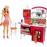 Barbie Doll with Kitchen Set Box