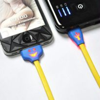 Smiley Face LED USB Cable For Ipod Ipad Iphone 4