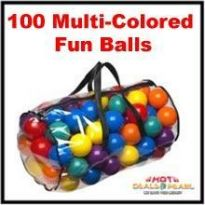 100 Pcs. Fun Balls Brightly Colored Balls Kids Toy