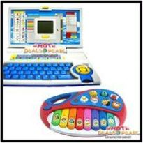 42 PCS Coloring Set With Kids Educational English Learning Laptop - Kids/Childrens Toys
