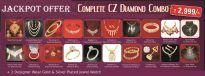 50 Items CZ Diamond Jewellery Combo
