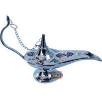 Aladdin Magic Chirag Lamp Antique Recreation Metal Handicraft Showpiece
