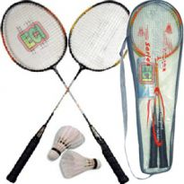Pair Of Badminton Racket & 2 Shuttle cock with cover Bag